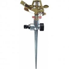 Metal pulsating sprinkler GB2023C spike mounted